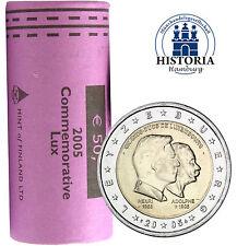 25 x Luxembourg 2 Euro pièces commémoratives 2005 Henry et Adolphe dans rôle