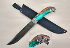 "Custom author's Exclusive Damascus survival hunter knife ""Allien"""