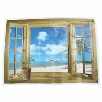 Large 3D Fenster Strand Meerblick Wandaufkleber Kunst Aufkleber Wandbild De B3B9