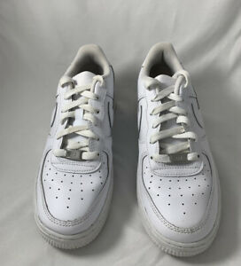 Nike Kids Air Force 1 Mid White Sneakers 314196-113 Kids Size 6Y