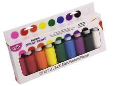 Tulip 29069 Fabric Spray Paint, 9-Pack Assorted Rainbow