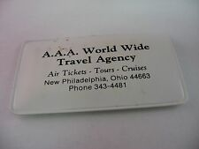 A.A.A. AAA World Wide Travel Agency Advertising Sewing Kit New Philadelphia Ohio