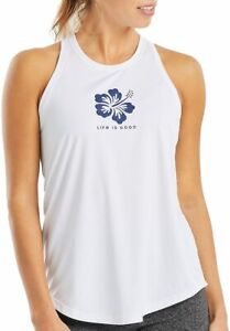 Life Is Good Womens Hibiscus Active Tank