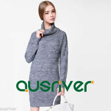 Winter Turtleneck Casual Dresses for Women