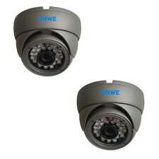 2 X CCTV Dome Camera 800TVL 960H High Resolution 20 Meter Infrared Vandalproof