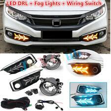 LED DRL Daytime Running Lights + Fog Lamps Harness For Honda Civic 2019-2020