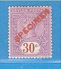 CEYLON SPECIMEN Victoria 1892-99 30c.