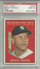 1961 Topps #475 Mickey Mantle MVP PSA 9 Gorgeous ('Dom T.')