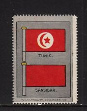 403017/ Reklamemarke - blanco - Flagge von Tunis und Sansibar