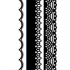 "Darice ""Lace Borders"" Embossing Folder - Pretty Border Stamp - Lace Card Stamp"