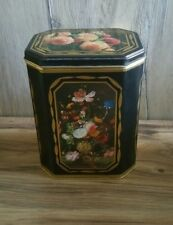 Vintage Tin Boxes Container Flowers Craft Decor Storage