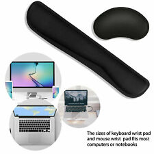 Memory Foam Nonslip Mouse Pad Wrist Support Keyboard Rest Office Computer Laptop