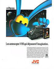PUBLICITE ADVERTISING  1991   JVC   caméscope   vidéo
