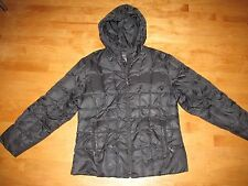 WOMENS RELATIVITY BLACK QUILTED DOWN PUFFER LIGHTWEIGHT COAT JACKET SIZE SMALL