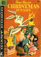 GIANT DELL BUGS BUNNY'S CHRISTMAS FUNNIES #8 57 FN+