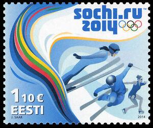 Stamp of ESTONIA 2014 - XXII Winter Olympic Games in Sochi / 559-16.01.14