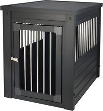 Dog Crate Pet Kennel Cage Wood Desk Stand End Table Elegant Furniture For Dogs