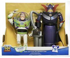 "NEW Disney Toy Story Talking 12"" Buzz Lightyear & 15"" Emporer Zurg 2 Pack Figure"