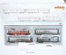 Marklin AC HO 1:87 German DR EP5 LOCOMOTIVE Brown & 3 PASSENGER COACH Set MIB`05
