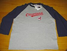 NEW WT VINTAGE STYLE CLEVELAND INDIANS T-SHIRT YOUTH BOYS L 14/16 COTTON BLEND