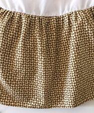 THOMASVILLE Basket Weave Print Dust Ruffle Bed Skirt~KING~EUC