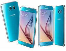 Samsung Galaxy S6 SM-G920F 32 Go Topaze Bleue Slim Débloqué utilisé Smart Téléphone portable