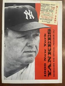 1969 New York Yankees Program/Scorecard, WITH TICKET STUB, COOL!