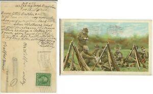 1917 WWI Fort Sill Oklahoma 139th Reg Robert Surdey - suffered 65% causalities