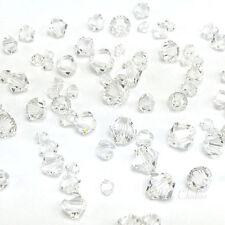 72 pcs Mixed Sizes Swarovski 5328 XILION Bicone Beads clear CRYSTAL (001)