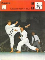 1978 Sportscaster Card Karate Glossary From Ato Z # 39-09 NRMINT / MINT