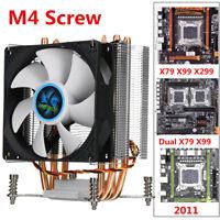 CPU Cooling Fan Heatsink PC Fan CPU Cooler w/ 4 Heatpipes For 2011 X79 X99 X299