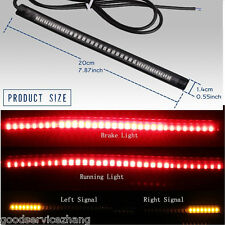 48 LED Flexible Motorcycle Light Strip Rear Tail Brake Stop Turn Signal Lamp Bar