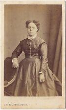 Portrait studio Femme J. H. Tourtin cdv Vintage albumine ca 1870