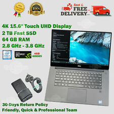 Dell XPS 15.6″ 4K Touch 64GB RAM 2TB SSD i7 2.8GHz - 3.8GHz 4GB GF Win 10 Laptop
