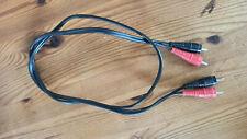 1m Cinch Kabel Stecker / Stecker RCA Audio Hifi Cinchkabel * WIE NEU *