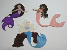 3 mermaids Prints scrapbooking die cuts die cut No Metal