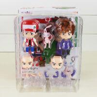 10cm Nendoroid 612 Action Figure Ash Ketchum Gary Oak Mew Red Green Model Toys
