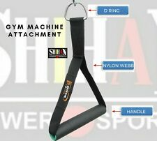 Gym Stirrup Handle 1-D Strap Pulley Cable Machine Attachment Multi Gym Pull Down