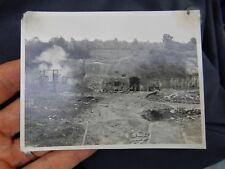 MAGINOT LINE INVASION OF FRANCE 1940  BURNING WRECKAGE  Fort Eben-Emael PHOTOS