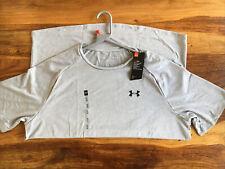 Herren Under Armour Heat Gear Tech Tee Shirt. Größe XL Farbe grau. NWT. RRP £ 28