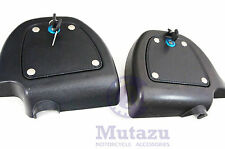Lockable Glove compartment Doors set fit Harley FLH FLT HD Lower Vented Fairing