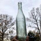 Blown Crown Beer Bottle Gottlieb Bauernschmidt Straus Baltimore MD Aqua Early