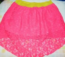 MY LITTLE PONY Hi-Lo Lace Skirt, GIRLS' M (7/8) PINK w/attached PANT Hasbro #C33