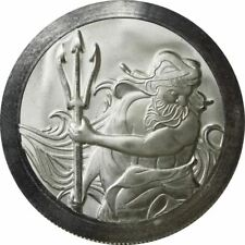 1 - 1 oz .999 Silver Coin - Trident Stackable - High Relief - BU - New