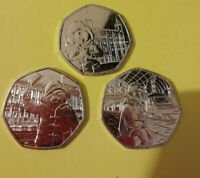 Paddington Bear 50p Coin'S at the Palace, Station, Tower Of London OR cathederal