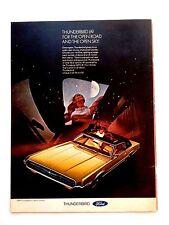Vintage 1969 Ford Thunderbird Original Print Ad Automobile Car