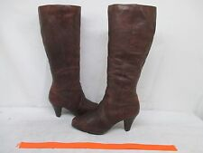Born Women's Brown Leather Zip Fashion Boots Size 6.5 US 37 EUR Style W61231