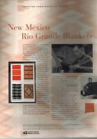 #3926-29 37c Rio Grande Blankets 2005 USPS Commemorative Panel  #741