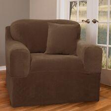 Maytex Collin Stretch 2-Piece Slipcover Chair, Mocha