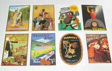 Lot de 8 Carte Postale Reproduction Affiche Publicitaire Ancienne Pub h